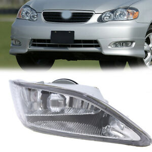 For 02 04 Toyota Camry 2005 08 Corolla Rh Front Bumper Fog Light Lamp Clear Lens