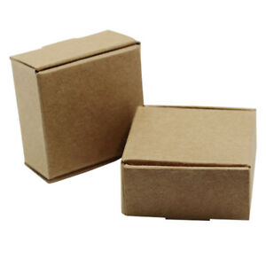 Brown Kraft Paper Candy Box Party Wedding Jewelry Gifts Multi size Package Boxes