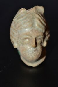 Ancient Roman Faience Portrait Head Of A Woman