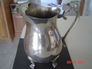 Vintage Leonard Silverplate Water Pitcher Footed