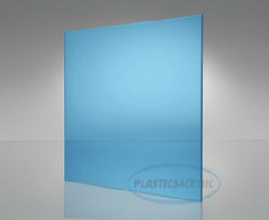 Light blue Transparent Acrylic Plexiglass Sheet 1 16 X 12 X 12 2069