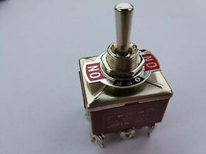 2pcs Tpdt On off on Industrial Toggle Switches 303 Triple Pole Double Throw