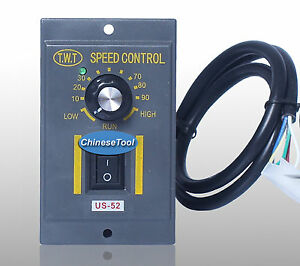 1pc 120w Ac220v 6 Terminals Motor Speed Control Switch Us 52 Green Led Indicator