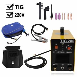 200a Tig 200 Dc Inverter Welding Machine Stainless Aluminum Welder Tool Kit Ek