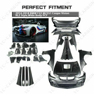 Portion Carbon Rlz Style Wide Body Kit For 14 18 Bmw F22 M235i Coupe