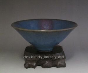 Beautiful Chinese Antique Jun Porcelain Yao Bian Bucket Bowl