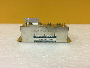 Tektronix 119 2403 00 Band Pass Filter For 492 49x Spectrum Analyzers Tested