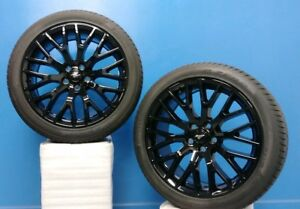 Set Of 2 19 Ford Mustang 2015 18 Wheels Tires 10036 19x9 Pirelli 255 40zr19
