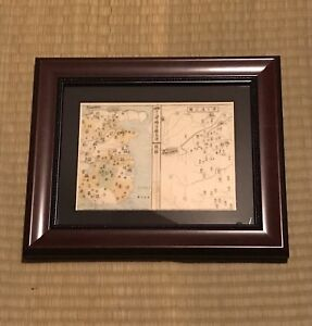 Framed Japanese Woodblock Print Genpei Wars Samurai Japan Ukiyoe