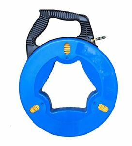 Ezitown Blue Cable Puller Fiberglass Wire Reusable Electrical Fish Tape Length
