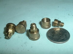 4 Mini Model Hit Miss Gas Engine Or Steam Engine Brass Grease Cups 8 36 Thd