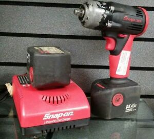 Snap on 14 4v 3 8 Impact Gun W Charger Batteries Pre owned Ships Fast