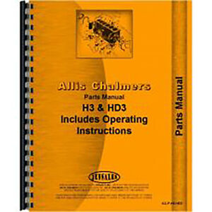 Parts Manual For Allis Chalmers Crawler diesel Tractor Model Hd3