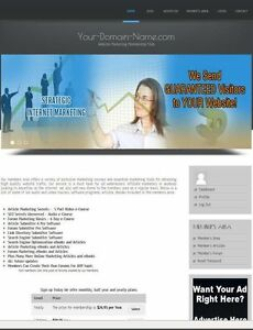 Website Marketing And Traffic Tools Membership Website Business For Sale