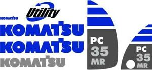 Decal Set For Komatsu Pc 35 Mr Excavator