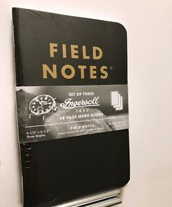 Field Notes Ingersoll 1892 Edition Sealed 3 pack
