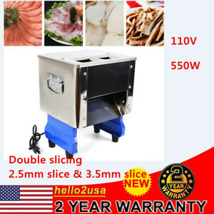Commercial Electric Meat Slicer Stainless Steel Fresh Meat Cutter Restaurant Usa