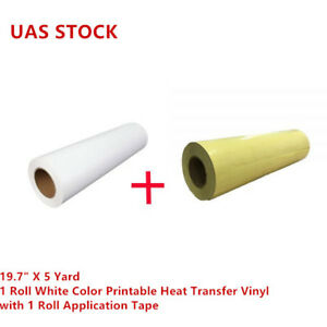 1 Roll Eco solvent Printable Heat Transfer Vinyl With 1 Roll Application Tape