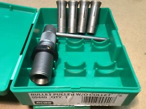 RCBS Collet Bullet Puller w 4 inserts 270 30 44 & 45 09440
