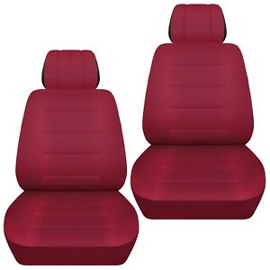 Fits 2012 2016 Toyota Camry Front Set Car Seat Covers Burgundy
