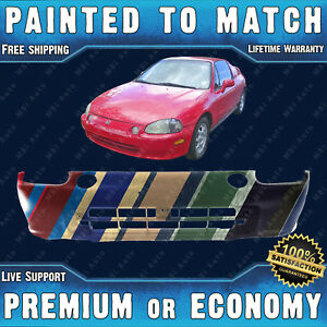 New Painted To Match Front Bumper Replace For 1993 1994 1995 Honda Civic Del Sol