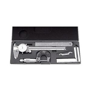 Hhip 4902 0004 4 Piece Machinist s student s Kit With 6 Dial Caliper