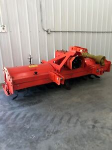 Extra Heavy Duty 3 Point 8 Ft Rotary Tiller Tractor Tiller Orange Color