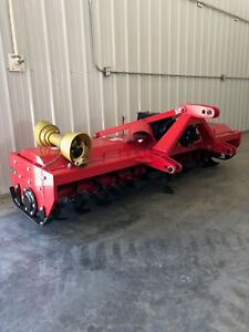 Extra Heavy Duty 3 Point 7 Ft Rotary Tiller Tractor Tiller Red Color