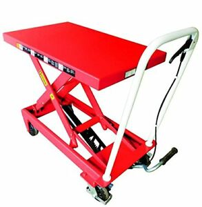 Hydraulic Lift Table Scissor Lifting Tables Heavy Duty Foot Pump 500 Lb Capacity