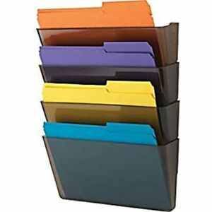 File Pockets Organizer Expandable Wall Mount Hanging Brackets For Office Home