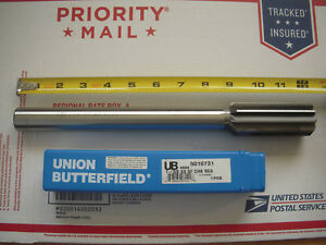 New Union Butterfield 1 3 8 X 12 Straight Flute Right Hand Cut Chucking Reamer