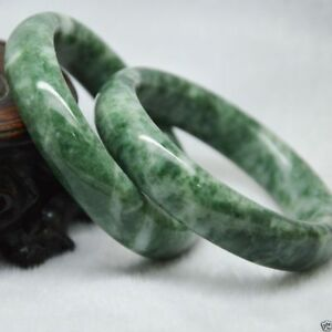 Chinese Hand Carved Bracelet Natural Jade Beautiful Bangle 60mm 1pcs