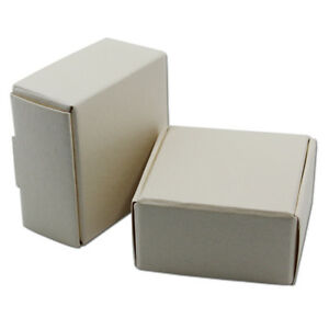 White Kraft Paper Box Wedding Party Candy Jewelry Gifts Small Packaging Boxes