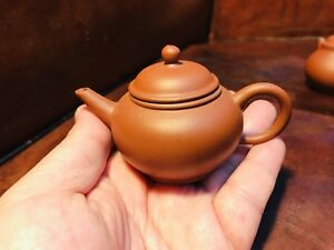 Red Yixing Factory One 1970 Teapot With 6 Charactors Seals
