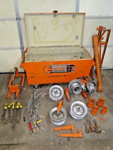 Ensley 440 Power Electric Cable Wire Tugger Puller 8000lb W tool Box We Ship