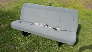 2007 Ford Econoline Van Rear Bench Seat Oem Grey Cloth
