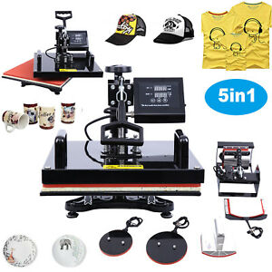 5in1 Swing away Digital Heat Press Sublimation Transfer Machine T shirts 15x15