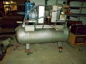 Dual 5hp Air Compressors Ingersoll Rand Quincy 3 Phase
