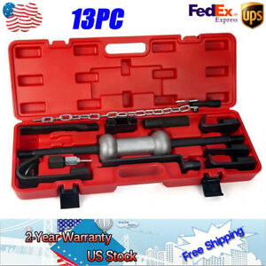 New 13x Heavy Duty Dent Puller Slide Hammer Auto Body Repair Tool Kit 10lbs case