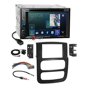 Pioneer Dvd Sirius Appradio Stereo Dash Kit Harness For 02 05 Dodge Ram Truck