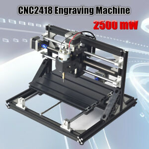 2500mw 3 Axis Cnc Router Pcb 2418 Wood Carving Engraving Milling Laser Machine