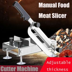Manual Stainless Steel Food Froze Meat Slicer Food Meat Cutter Slicing Machine