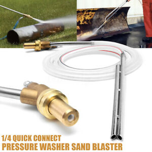 Pressure Washer Sand Blaster Rust Paint Dirt Cleaner Nozzle Lance 1 4 Quick Plug