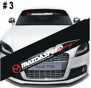 Mazdaspeed Front Window Windshield Black Vinyl Banner Decal Sticker For Mazda 3