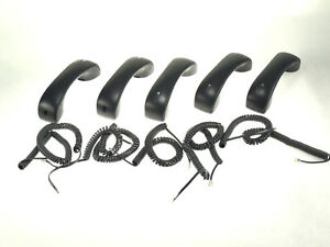 Lot Of Five Handset For Cisco 7940 7941g Digital Ip Phone W Curly Cord tested