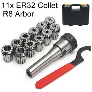 R8 Er32 Collet Chuck Holder 11x 1 8 3 4 Cnc Lathe Spring Collet Milling Set