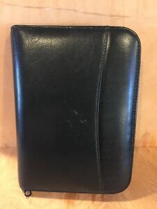 Compact Genuine Leather Raika Planner Binder Franklin Covey Dark Green