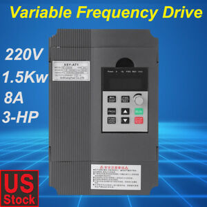 1 5kw 220v 3hp Single Phase To Three Phase Output Frequency Converter Vfd Vsd