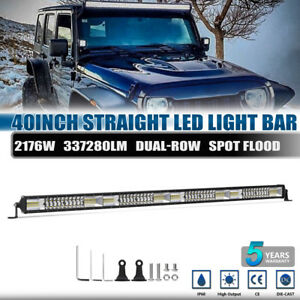 40inch Led Work Light Bar Spot Flood Combo For Jeep Offroad Truck Driving Lamps