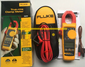 1pcs New Fluke 325 True rms Clamp Meter 40 00 A 400 0 A With Soft Carrying C